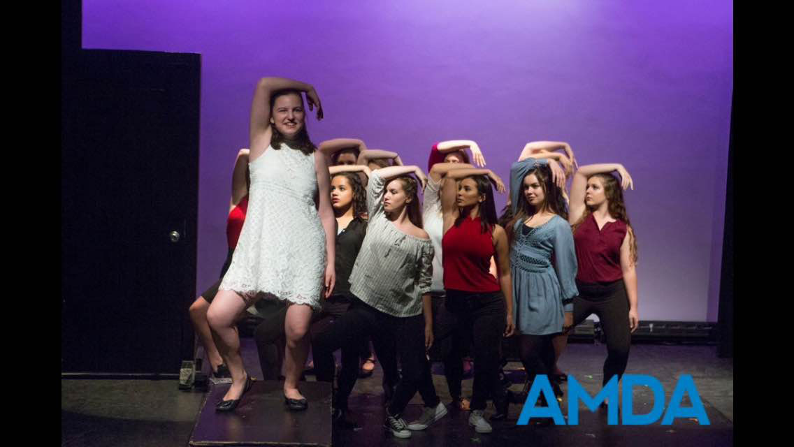 Senior Emily Lourim stars in a show at the American Musical and Dramatic Academy summer program.