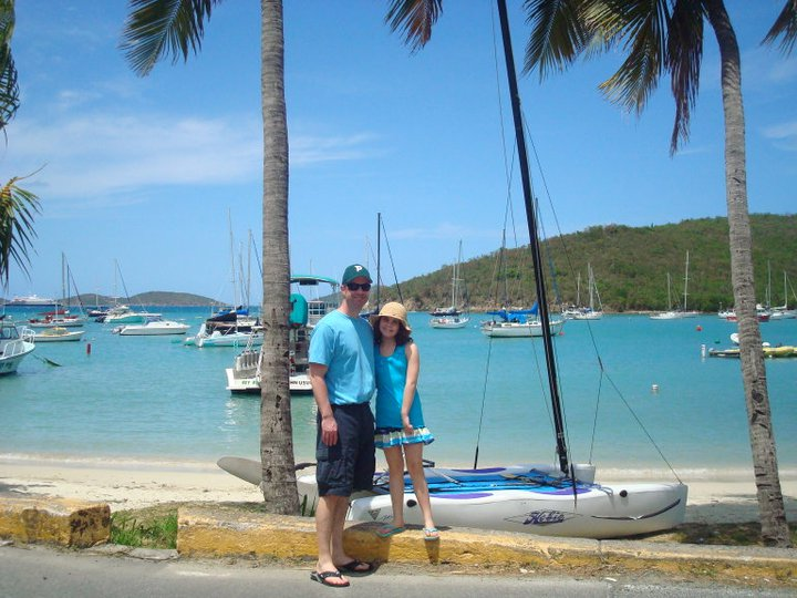 My dad and me in St. John in 2011.