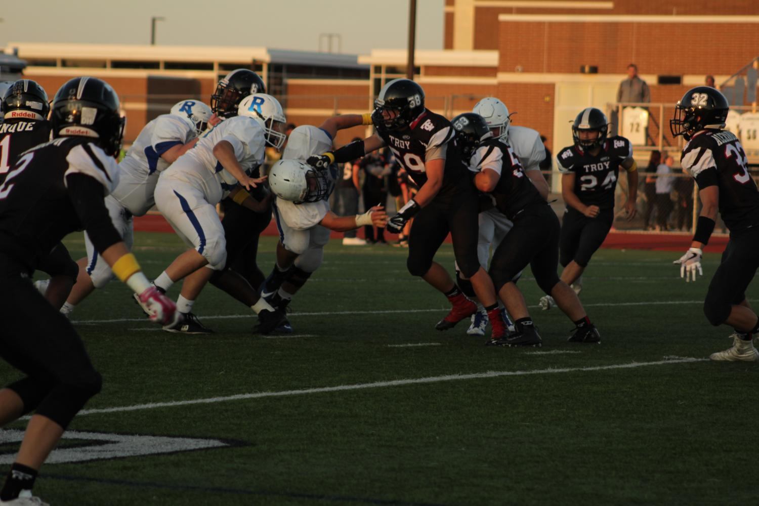 Juniors Jake Volek and Ben Buia go head to head with Rochester team.