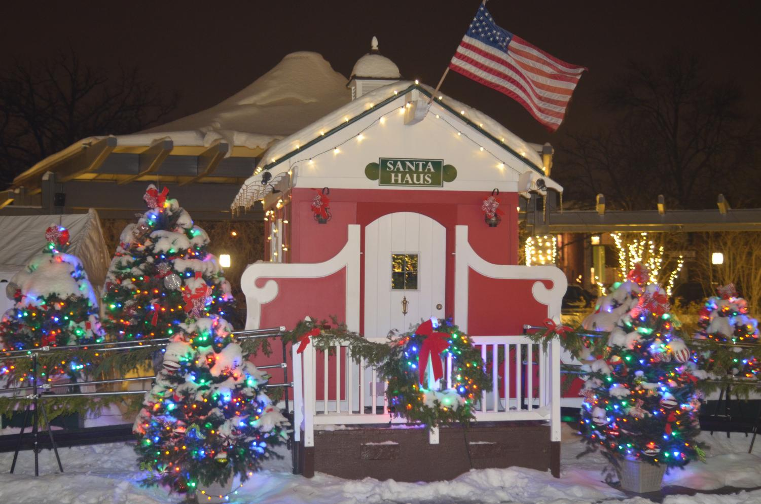 The Santa Haus located in Shain Park.