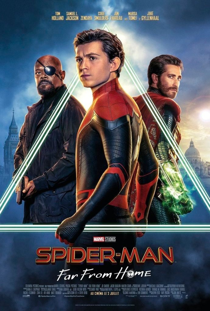 The official poster for Marvel Studios' Spider-Man: Far From Home