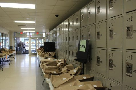 Textbooks and Class Materials await pick-up.