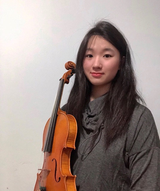 Angela Lee posed with her Violin